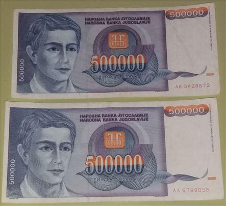 500.000 dinara-Mladić-1993-F-Lot 15 kom.-