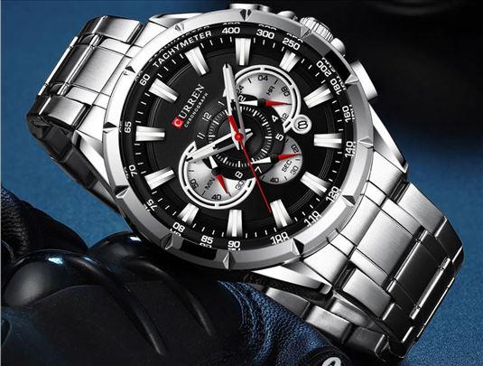 Curren muški sat, crni, najnoviji model, akcija