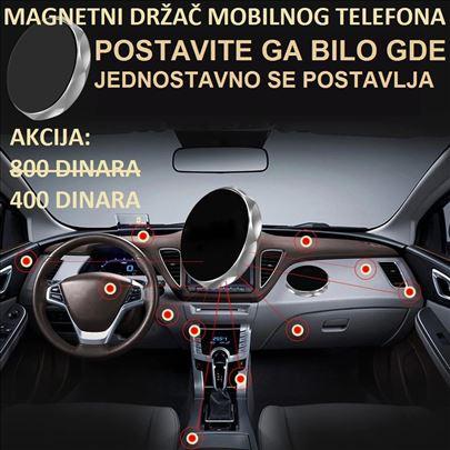 Magnetni auto drzač za mobilni telefon - CRNI