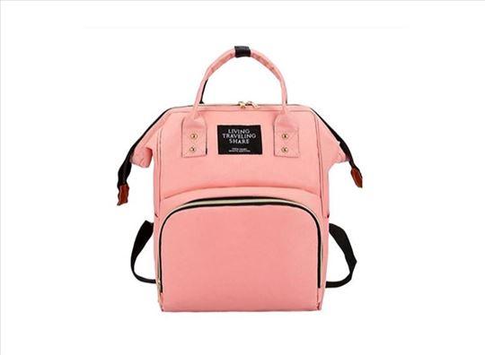 Multifunkcionalna torba/Ranac za mame - roze