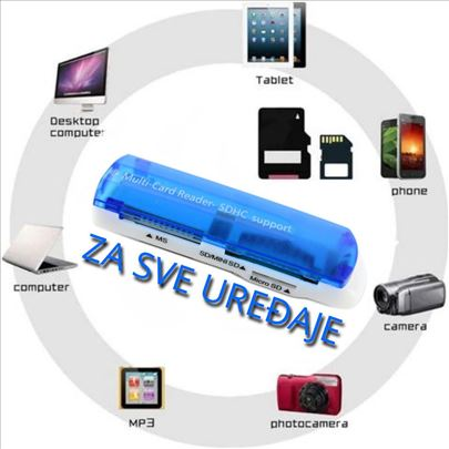 MOĆNI -USB čitač kartica 43 u 1
