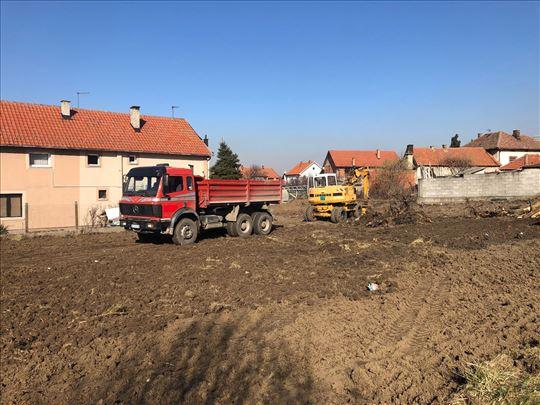Prevoz građevinskog materijala i iskop zemlje