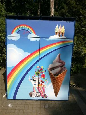 Prodajem zaštitnu kućicu za prodaju sladoleda