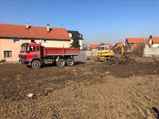 Sve vrste iskopa,rušenje objekata,prevoz materijal