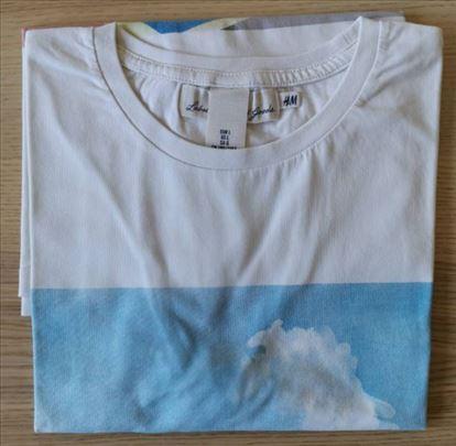 H&M bela majica sa printom, veličina XL - NOVO