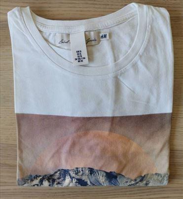 H&M bež majica sa printom, veličina XL - NOVO