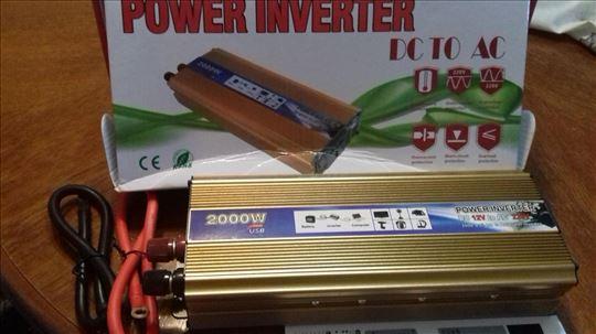 Invertori pretvarači 12V 2000W