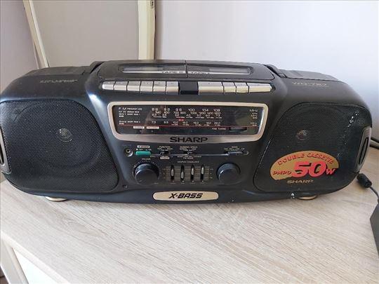 Sharp X-Bass Double cassette 50W