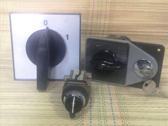 Prekidač grebenasti100A 0-1,63Asa ključem i taster