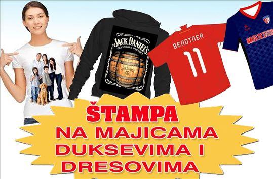 Štampa na majicama - duksevima - dresovima