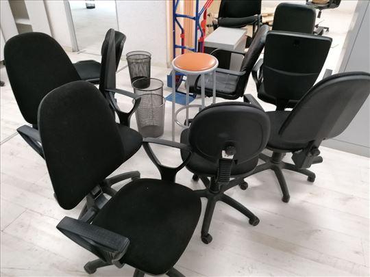 Stolice crne sa ili bez rukonaslona