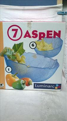 Luminarc 7 Aspen:1 velika 23 cm. + 6 manjih 12 cm.