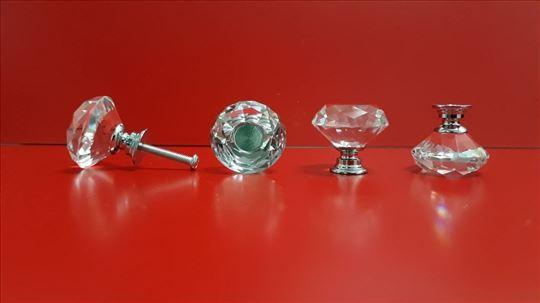 Ručke za nameštaj od kristala za ormare, vitrine