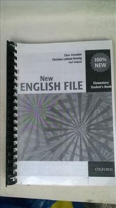 Knjiga: New English file, Elementari, 2 knjige, ok