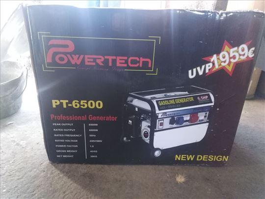Agregat Powertech PT-6500 monofazno-trofazni