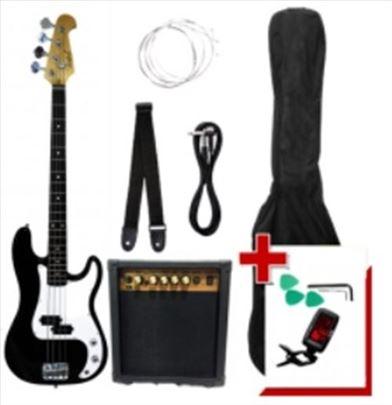 Firefeel S104BK Bas gitara PAKET