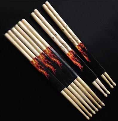 Palice za bubnjeve12 pari5A,7A od Javorovog drveta