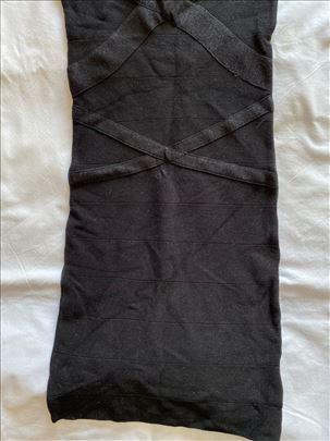 Zara crna top strech haljina
