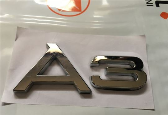 Natpis znak AUDI A3 metalni