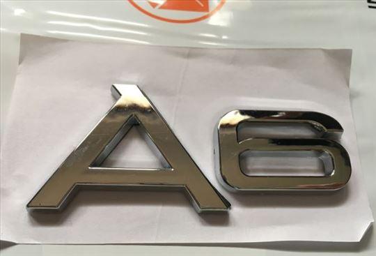 Natpis znak AUDI A6 metalni