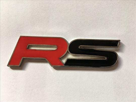 Natpis znak AUDI RS - metalni