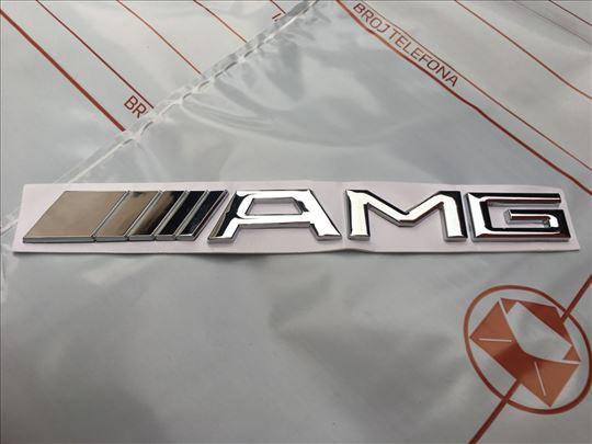 Natpis znak MERCEDES AMG  zadnji - sivi