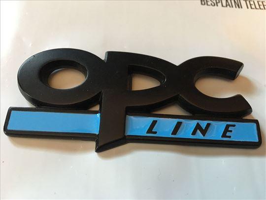 Natpis znak OPC line - prednji na vijak