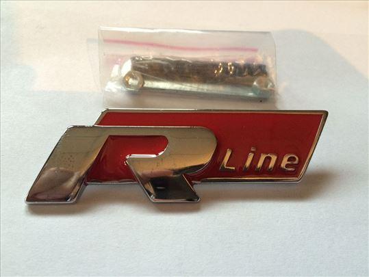 Natpis znak R-line - crveni