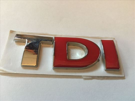 Natpis znak TDI - metalni