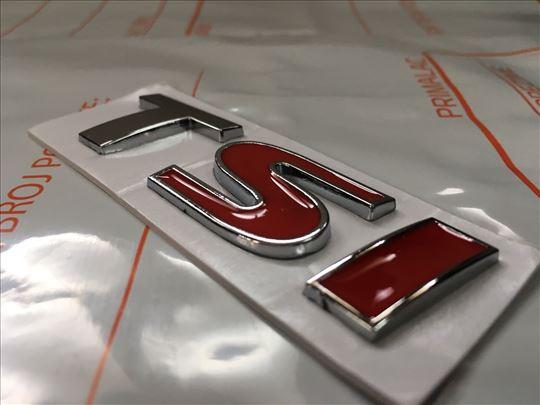 Natpis znak TSI - metalni