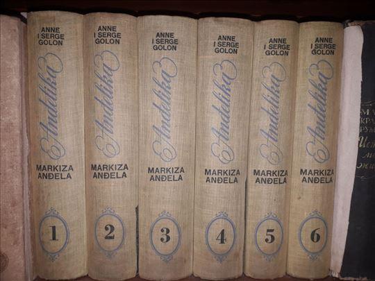Komplet knjiga Anđelika iz 1966.god.