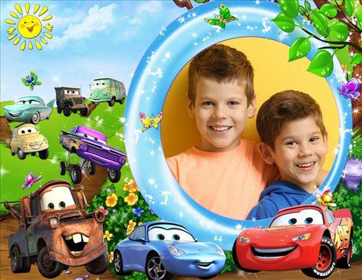 Dečije slike sa motivima iz crtanih filmova