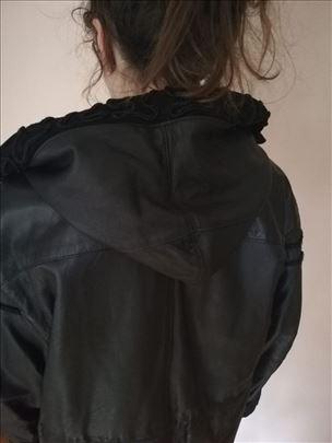 Crna kozna jakna zenska MONA