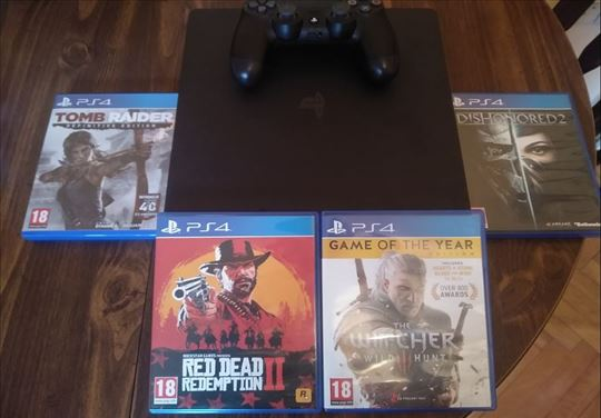 Sony Playstation 4 Slim 500 GB + Igrice