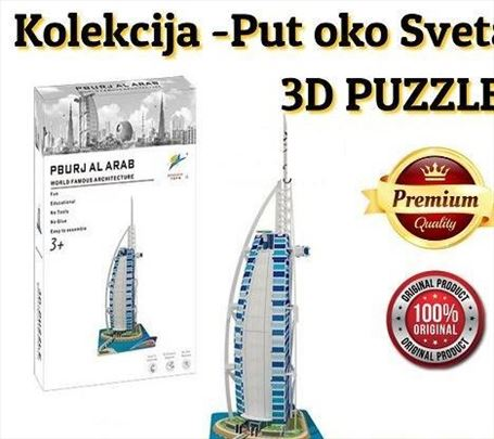 3D puzzle kolekcija -PUT OKO SVETA! -Burj al Arab
