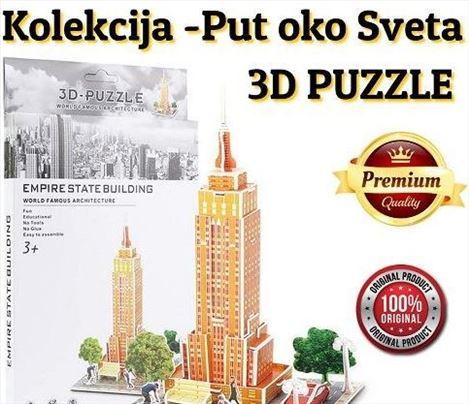 3D puzzle kolekcija -Put oko sveta! -Empire state