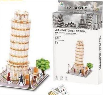 3D puzzle kolekcija - Put oko sveta! -Krivi toranj