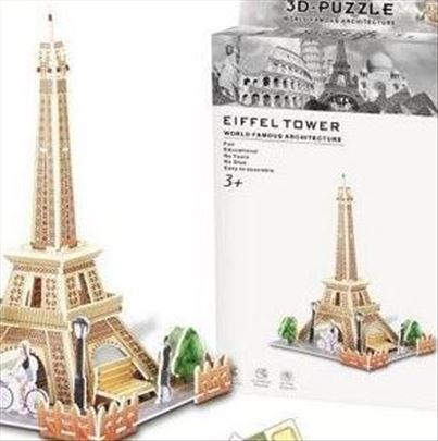 3D puzzle kolekcija -Put oko sveta!-Ajfelov toranj