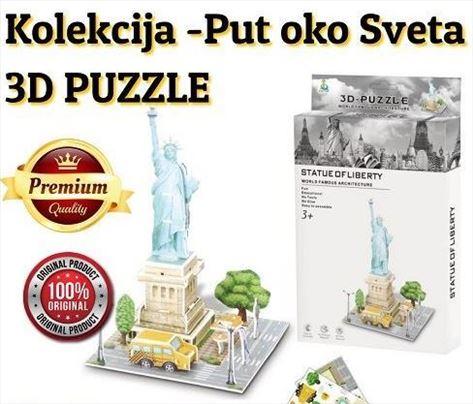 3D puzzle kolekcija -Put oko sveta! Kip Slobode