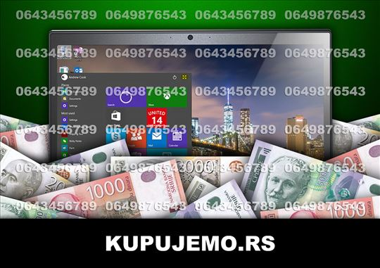 KUPUJEMO laptopove i tablete (064/3456789) BG