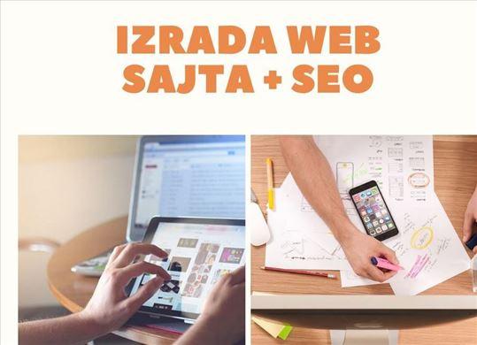 Profesionalna i povoljna Izrada Web Sajta + SEO