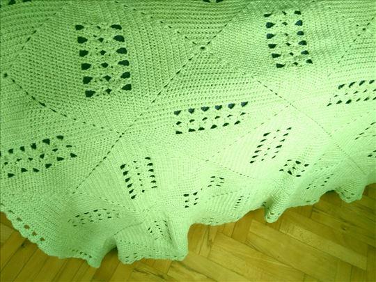 Vintage Boho ručno heklani vuneni prekrivač