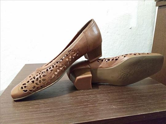 Braon kožne cipele br. 39