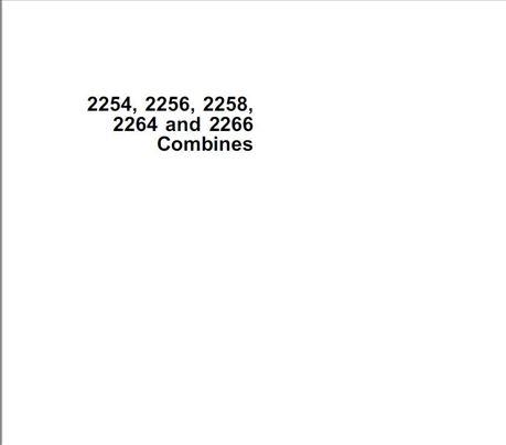 John Deere 2254-2256-2258-2264-2266 Uputstvo