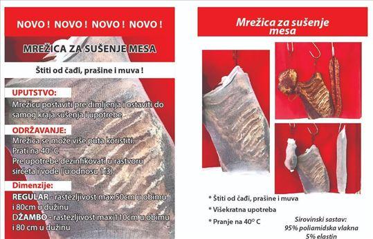 Mrežica za sušenje mesa protiv muva i čađi