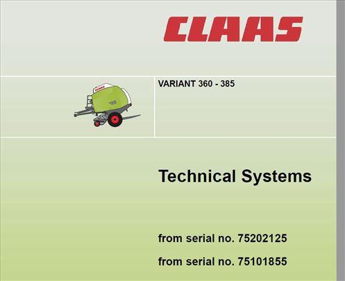 Claas Variant 360-365-380-385 Tehnički sistemi