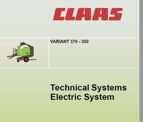 Claas Variant 370 - 350  elektrika i hidraulika