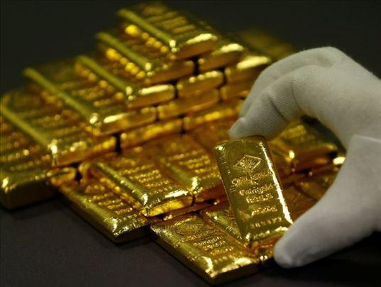 Prirodno AU zlato, polirani dijamanti, neobrezani