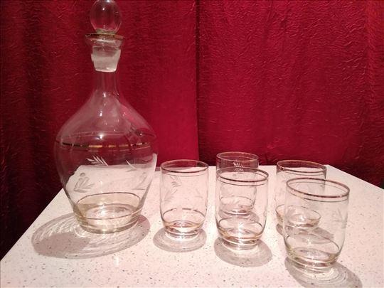 Set za vino - bokal i 5 čaša