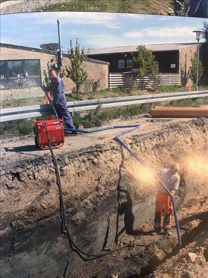 Bušenje za cevi i instalacije ispod puta